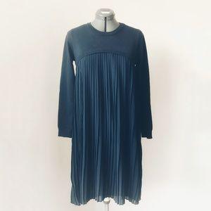 English Factory Long Sleeve Pleated Hem Sweater Dr